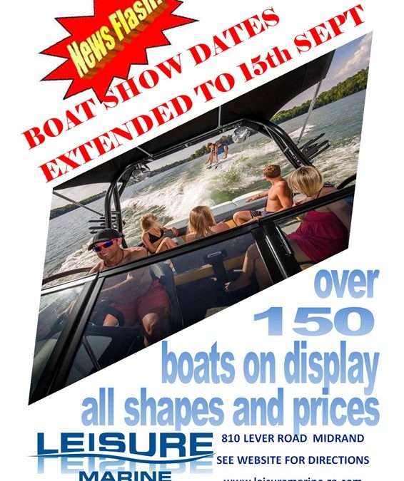 BOAT SHOW DATES EXTENDED