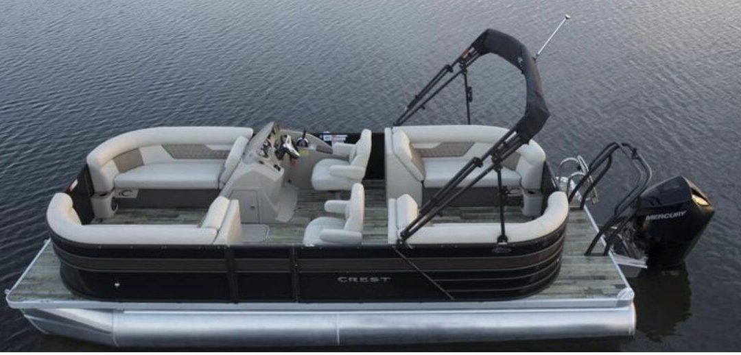 New Crest Classic  DLX 220 SLC pontoon IN STOCK!